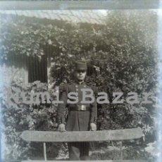 Alte Fotografie - NEGATIVO PLACA CRISTAL - GELATINO-BROMURO DE ARGENTA - 9 X 12 CM.- AÑO 1910 - Militar - 71758683