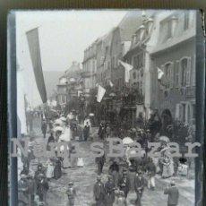 Alte Fotografie - NEGATIVO PLACA CRISTAL - GELATINO-BROMURO DE ARGENTA - 9 X 12 CM.- AÑO 1910 - Desfile Militar - 71761575