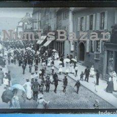 Alte Fotografie - NEGATIVO PLACA CRISTAL - GELATINO-BROMURO DE ARGENTA - 9 X 12 CM.- AÑO 1910 - Desfile militar - 71761683