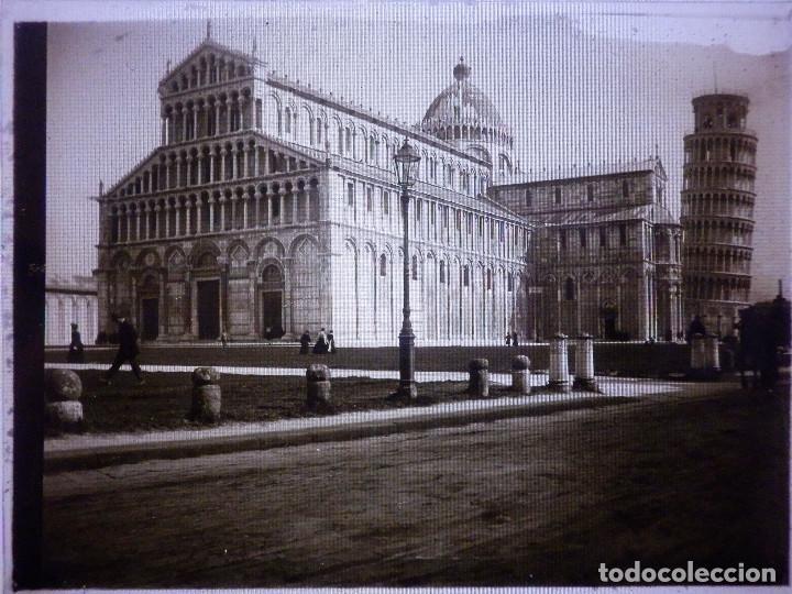 FOTOGRAFIA PLACA POSITIVA EN CRISTAL - GELATINO BROMURO DE ARGENTA - 9 X 12 CM. - AÑO 1910 +/- PISA (Fotografía Antigua - Gelatinobromuro)