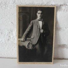 Fotografía antigua: RETRATO JOVEN EN GELATINOBROMURO. CIRCA 1930 FOTOGRAFIA J. VILATOBÁ SABADELL.. Lote 73007907
