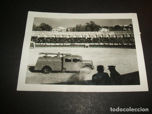 MADRID MANIOBRAS EN PLAZA DE TOROS FOTOGRAFIA AÑOS 40 (Fotografía Antigua - Gelatinobromuro)
