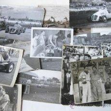 Photographie ancienne: LOTE DE FOTOGRAFIAS DE CARRERAS DE COCHES DE FRANCISCO GODIA - PRIMER PILOTO ESPAÑOL EN FORMULA 1. Lote 74179523