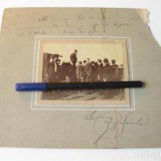Fotografía antigua: FOTOGRAFIA DEL HIPODROMO DE BARCELONA. EDUARDO DATO Y JESUS FIGEROLA. 1900. Lote 77976205