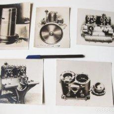 Fotografía antigua: 5 FOTOGRAFIAS DE MOTORES DE AUTOMOVIL DE PRINCIPIOS DEL SIGLO XX. Lote 77979837