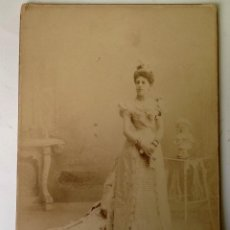 Fotografía antigua: ANTIGUA FOTOGRAFIA DE GRAN DAMA DE LA CORTE ,EPOCA ALFONSO XII . 1890. Lote 79320649