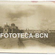 Fotografía antigua: FOTO ORIGINAL LA CORUÑA PASEO MARITIMO DESAPARECIDO ATLANTIC HOTEL AÑOS 10/20 GALICIA - 6X4 CM. Lote 82047032
