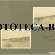 Fotografía antigua: 2 FOTOS ORIGINALES LLAFRANC LLAFRANCH COSTA BRAVA GIRONA GERONA AÑO 1918 - PEGADAS EN CARTULINA. Lote 82078312