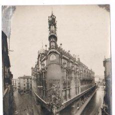 Fotografía antigua: VISTA ANGULAR DEL PALAU DE LA MÚSICA, BARCELONA 1916, MERLETTI FOTO, VER ANOTACIONES REVERSAS.. Lote 83325764