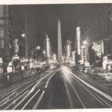 Fotografía antigua: BUENOS AIRES, CALLE FLORIDA, 1950'S. PANORÁMICA NOCTURNA LARGA EXPOSICIÓN, 15X28CM.. Lote 83328388