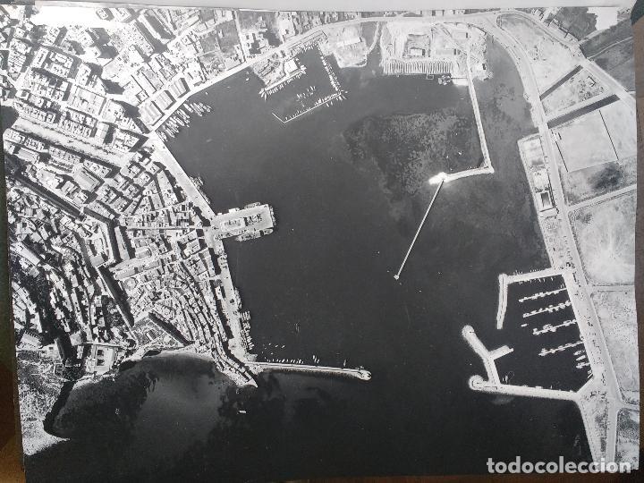 GRAN FOTOGRAFIA AEROPOST, PAISAJES ESPAÑOLES, IBIZA, BALEARES, 40 X 31 (Fotografía Antigua - Gelatinobromuro)