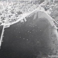 Fotografía antigua: GRAN FOTOGRAFIA AEROPOST, PAISAJES ESPAÑOLES, SAN ANTONIO, IBIZA, BALEARES, 38 X 31 CM. Lote 83678740