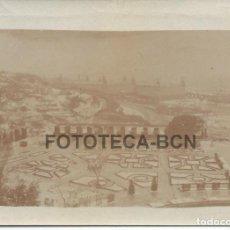 Fotografía antigua: FOTO ORIGINAL PARQUE DE MONTJUIC MONTJUICH BARCELONA PARECE NEVADO AÑOS 20/30 - 8X5,5 CM. Lote 85540656