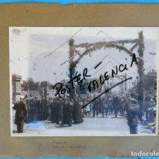 Fotografía antigua: LOTE 4 FOTOGRAFIAS ANTIGUAS DE ARIJA , BURGOS, PROCESION, ESCUELA DE CRISTALERIA, MISA..ORIGINALES. Lote 86750904