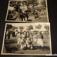 Fotografía antigua: LASARTE GUIPUZCOA CAMPO POLO 2 FOTOGRAFIAS 1943 POR EL EMBAJADOR ALEMANIA NAZI EN ESPAÑA DIECKHOFF . Lote 88182528