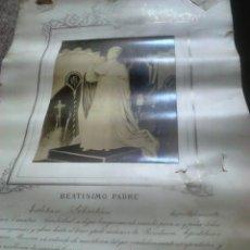 Fotografía antigua: ANTIGUO DOCUMENTO Y FOTO,,VATICANO DEL AÑO 1.900,IDEAL COLECCIONISTAS. Lote 88842115