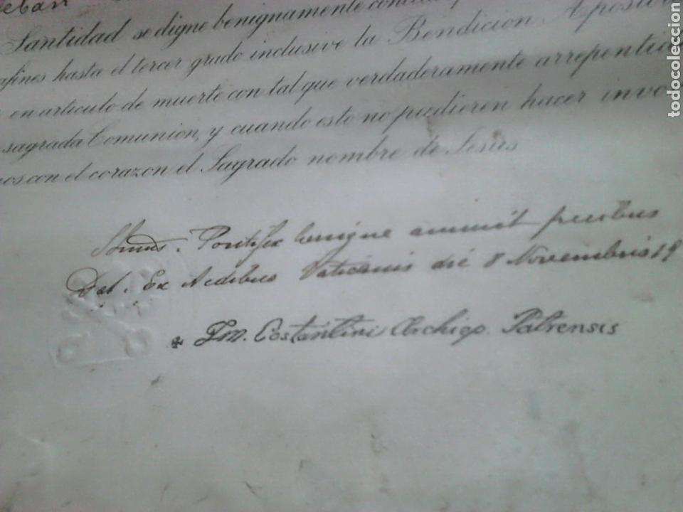 Fotografía antigua: Antiguo documento y foto,,vaticano del año 1.900,ideal coleccionistas - Foto 2 - 88842115