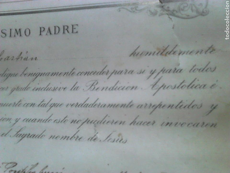 Fotografía antigua: Antiguo documento y foto,,vaticano del año 1.900,ideal coleccionistas - Foto 3 - 88842115