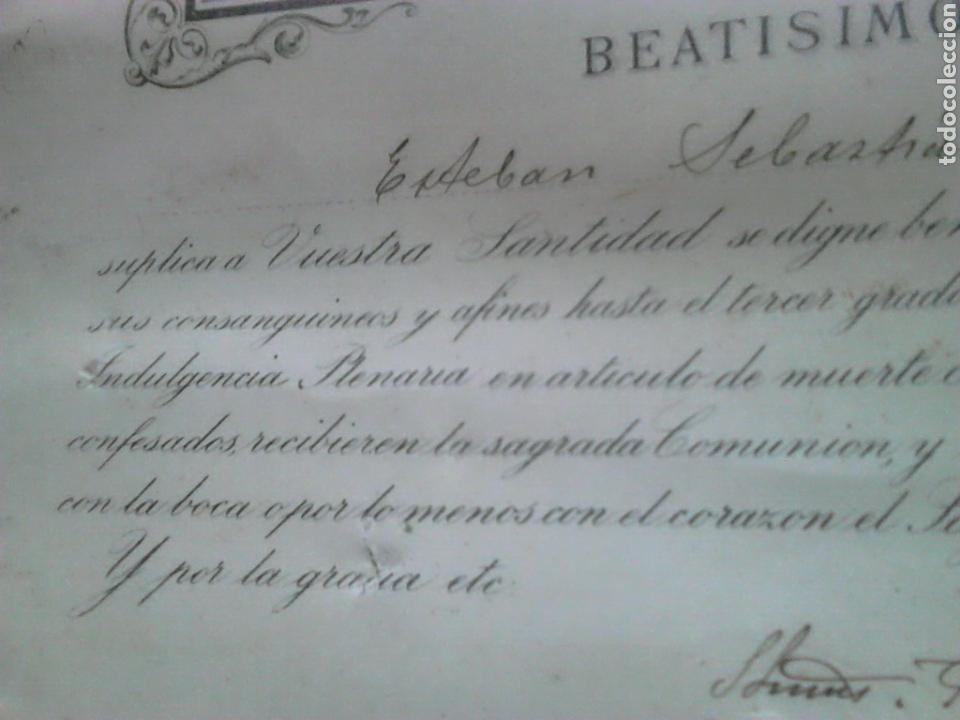 Fotografía antigua: Antiguo documento y foto,,vaticano del año 1.900,ideal coleccionistas - Foto 4 - 88842115