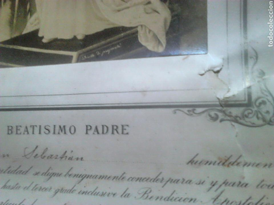 Fotografía antigua: Antiguo documento y foto,,vaticano del año 1.900,ideal coleccionistas - Foto 5 - 88842115