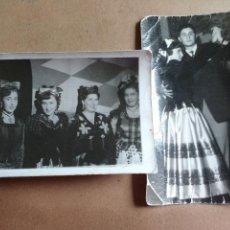 Fotografía antigua: PAREJA DE FOTOGRAFIAS DE UNA CELEBRACICON EN CACERES. CARNAVAL?, FOTOGRAFOS CALDERA, BRAVO Y MONTAÑA. Lote 206875995