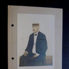 Fotografía antigua: FOTOGRAFIA AÑO 1908 / ISLA DE CUBA / RETRATO DE JOSE LOPEZ MARQUEZ/ APODERADO MARQUES DE ALTA GRACIA. Lote 90938860