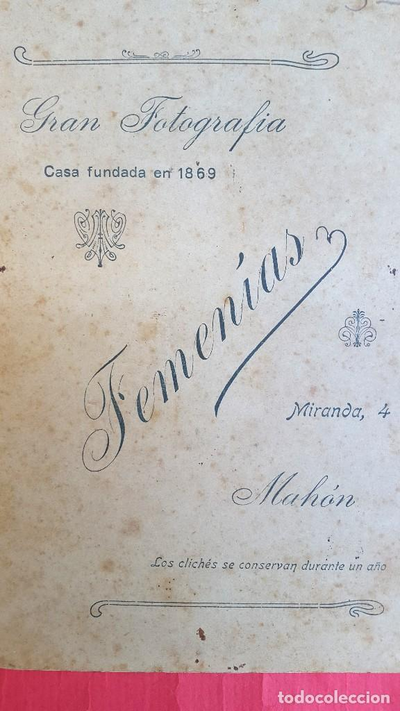 Fotografía antigua: RETRATO - MENORCA - MAHON - FOTOGRAFIA FEMENIAS - 1920'S - Foto 2 - 91432630
