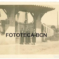 Fotografía antigua: FOTO ORIGINAL SANTA COLOMA DE GRAMANET DESAPARECIDA CALLE BALLDOVINA TORRE SEÑORIAL AÑOS 20. Lote 92187505