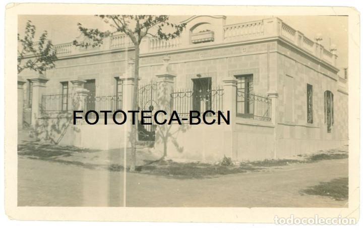 FOTO ORIGINAL SANTA COLOMA DE GRAMANET DESAPARECIDA TORRE CASA AÑO 1924 - 14X8 CM (Fotografía Antigua - Gelatinobromuro)