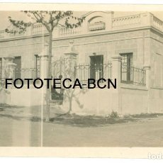 Fotografía antigua: FOTO ORIGINAL SANTA COLOMA DE GRAMANET DESAPARECIDA TORRE CASA AÑO 1924 - 14X8 CM. Lote 92187810