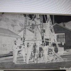 Fotografía antigua: CASTILLETE DE MINA NEGATIVO ANTIGUO DE CELULOIDE IMAGEN MINERIA AÑOS 1900. Lote 94073910