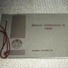 Fotografía antigua: JORNADAS ODONTOLÓGICAS DE VERANO. LABORATORIOS ABELLÓ. SANTANDER SETIEMBRE DE 1962 ÁLBUM CON FOTOS. Lote 94075635
