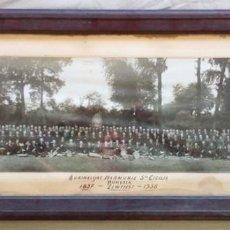 Fotografía antigua: 1938. HARMONIE STA. CICILIA. INTERESANTE FOTO HISTORICA. BELGICA. Lote 94619579