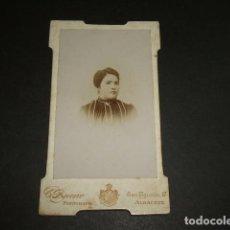 Fotografía antigua: ALBACETE RETRATO DE DAMA HACIA 1895 E. BUENO FOTOGRAFO CALLE SAN AGUSTIN 17 FOTOGRAFIA. Lote 96829451