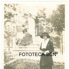 Fotografía antigua: FOTO ORIGINAL MADRID ESCULTURA - MAYO 1921 - 8X5 CM. Lote 97932019