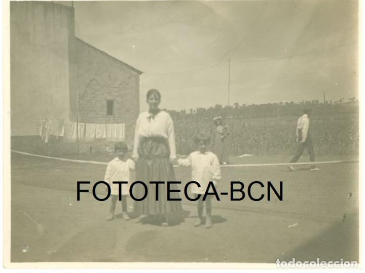FOTO ORIGINAL TENIS PIONEROS DEL DEPORTE TENNIS LAWN ESPAÑA PRINCIPIOS SIGLO XX - 10,5X8 CM (Fotografía Antigua - Gelatinobromuro)