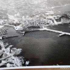 Fotografía antigua: FOTOGRAFIA BERMEO (VIZCAYA)18 X 12 CM. VISTA AEREA DEL PUERTO DE BERMEO AÑOS 40. Lote 99665083