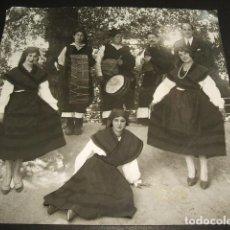 Fotografía antigua: MADRID TIPOS GALLEGOS FIESTA EN LOS VIVEROS GAITERO AÑOS 20 16 X 17 CMTS. Lote 102793355