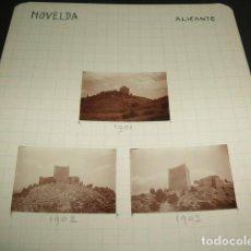 Fotografía antigua: NOVELDA ALICANTE 1930 3 FOTOGRAFIAS JEAN BRAUNWALD ARQUITECTO . Lote 103128911