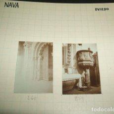 Fotografía antigua: NAVA ASTURIAS 1930 2 FOTOGRAFIAS JEAN BRAUNWALD ARQUITECTO. Lote 103134719