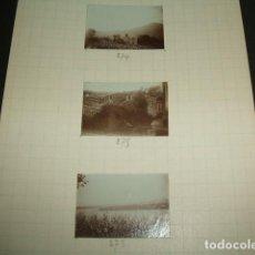 Fotografía antigua: NAVIA ASTURIAS 1930 3 FOTOGRAFIAS JEAN BRAUNWALD ARQUITECTO. Lote 103134795