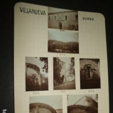 Fotografía antigua: VILLANUEVA ASTURIAS 1930 14 FOTOGRAFIAS JEAN BRAUNWALD ARQUITECTO. Lote 103134939