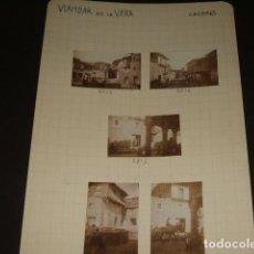 Fotografía antigua: VIANDAR DE LA VERA CACERES 1930 5 FOTOGRAFIAS JEAN BRAUNWALD ARQUITECTO. Lote 103156587