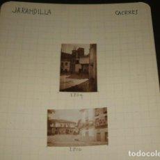 Fotografía antigua: JARANDILLA DE LA VERA CACERES 1930 4 FOTOGRAFIAS JEAN BRAUNWALD ARQUITECTO. Lote 103156727