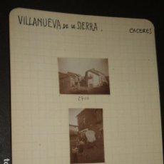 Fotografía antigua: VILLANUEVA DE LA SIERRA CACERES 1930 3 FOTOGRAFIAS JEAN BRAUNWALD ARQUITECTO. Lote 103157375