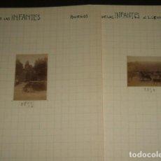 Fotografía antigua: SALAS DE LOS INFANTES BURGOS 1930 2 FOTOGRAFIAS JEAN BRAUNWALD ARQUITECTO. Lote 103161211
