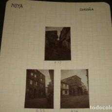 Fotografía antigua: NOYA LA CORUÑA 1930 5 FOTOGRAFIAS JEAN BRAUNWALD ARQUITECTO. Lote 103162215