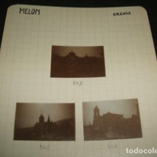 Fotografía antigua: MELON ORENSE 1930 3 FOTOGRAFIAS JEAN BRAUNWALD ARQUITECTO . Lote 103190047