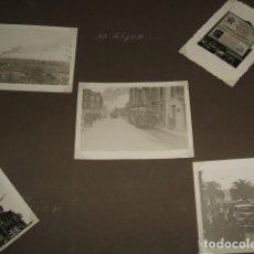 Fotografía antigua: GIJON ASTURIAS GUERRA CIVIL 1937 CONJUNTO 5 FOTOGRAFIAS POR SOLDADO LEGION CONDOR GÜNTER KASCHE. Lote 103484435