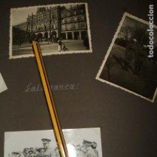 Fotografía antigua: SALAMANCA GUERRA CIVIL 1937 3 FOTOGRAFIAS MOLA Y VARELA, REGULARES POR SOLDADO LEGION CONDOR . Lote 103491095